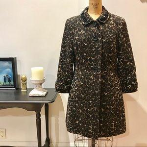 Leopard print winter coat size M 8-10